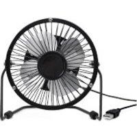 USB Metal Desk Fan - Black