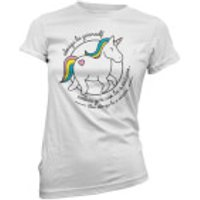 Always Be Yourself Unless You Can Be A Unicorn Women's White T-Shirt - S - White
