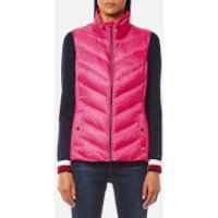 Tommy Hilfiger Womens Callie Light Weight Down Vest - Magenta - XS - Pink
