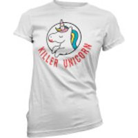 Killer Unicorn Women's White T-Shirt - L - White