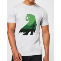 Nintendo The Legend Of Zelda Green Ganondorf Silhouette Men's Light Grey T-Shirt - S - Light Grey