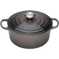 Le Creuset Signature Cast Iron Round Casserole Dish - 28cm - Flint