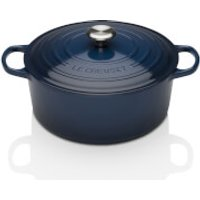 Le Creuset Signature Cast Iron Round Casserole Dish - 28cm - Ink