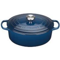 Le Creuset Signature Cast Iron Oval Casserole Dish - 29cm - Ink