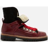 Ganni Women's Edna Leather Boots - Decadent Chocolate - DK 39/UK 6 - Brown