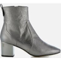 Carvela Womens Strudel Leather Heeled Ankle Boots - Gunmetal - UK 6