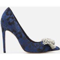 KG Kurt Geiger Women's Bow Patterned Court Shoes - Blue - UK 4 - Blue