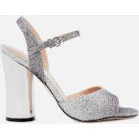 Miss KG Womens Erin Two Part Heeled Sandals - Gunmetal - UK 5 - Silver