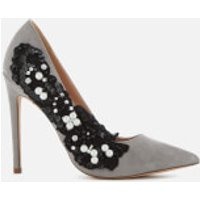 KG Kurt Geiger Women's Bounty Embellished Side Court Shoes - Grey - UK 7 - Grey