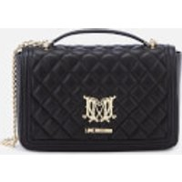 Love Moschino Womens Quilted Shoulder Bag - Black