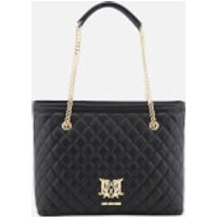 Love Moschino Womens Quilted Tote Bag - Black