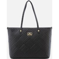Love Moschino Womens Shiny Quilted Tote Bag - Black