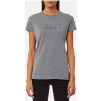 Love Moschino Women's Love Embossed T-Shirt - Dark Grey - IT 40/UK 8 - Grey
