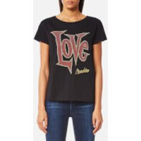 Love Moschino Womens Large Letter Love T-Shirt - Black - IT 40/UK 8 - Black