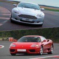 Ferrari versus Aston Martin Driving