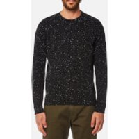 Universal Works Men's Loose Fisherman Jumper - Charcoal - L - Black