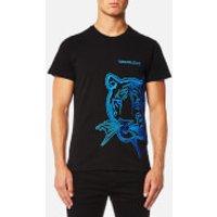 Versace Jeans Mens Tiger Logo T-Shirt - Blue - L - Blue