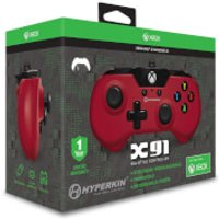Licensed X91 90's Style Controller XBOX 1 & PC Controller - Red - Xbox Gifts