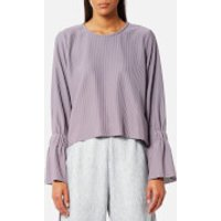 House of Sunny Womens Open Back Top with Flare Sleeves - Sweet Lilac - UK 10 - Purple