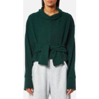 House of Sunny Womens Volume Extended Sleeve Rib Jumper - Organic Green - UK 12 - Green