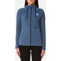 The North Face Womens Mezzaluna Full Zip Hoody - Provincial Blue Stripe - S - Blue