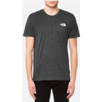 The North Face Mens Short Sleeve Simple Dome T-Shirt - TNF Dark Grey Heather/Silver Reflective - L - Grey