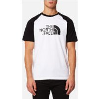 The North Face Mens Short Sleeve Raglan Easy T-Shirt - TNF White/TNF Black - L - White