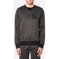 The North Face Mens MC Drew Peak Crew Sweatshirt - TNF Dark Grey Heather - XL - Grey