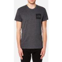 The North Face Men's Fine Short Sleeve T-Shirt - TNF Dark Grey Heather - L - Grey