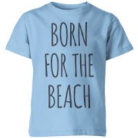 My Little Rascal Born for the Beach Kids' T-Shirt - Light Blue - 11-12yrs - Blue - Beach Gifts