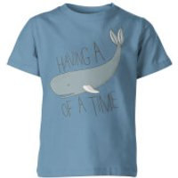 My Little Rascal Having a Whale of a Time Kids' T-Shirt - Light Blue - 11-12yrs - Blue - Whale Gifts