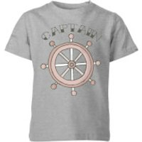 My Little Rascal Kids Captain Grey T-Shirt - 7-8 Years - Grey