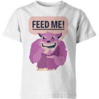 Feed Me! Kids White T-Shirt - 3-4yrs - White