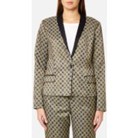 Maison Scotch Womens Jacquard Blazer - Combo A - L - Gold