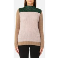 Maison Scotch Womens Colour Blocked High Neck Jumper - Combo A - L - Multi
