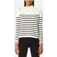 Maison Scotch Womens High Neck Knitted Sailor Top - Combo B - L - Multi