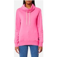 Superdry Womens Funnel Hooded Sweatshirt - Overdyed City Pink - XS - Pink