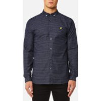 Lyle & Scott Mens Multi-Coloured Running Stitch Shirt - Navy - S