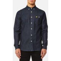 Lyle & Scott Mens Denim Shirt - Dark Indigo - M - Blue