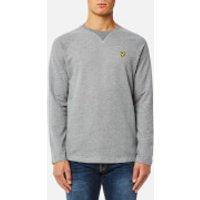 Lyle & Scott Mens Lightweight Crew Neck Sweatshirt - Mid Grey - XL - Grey
