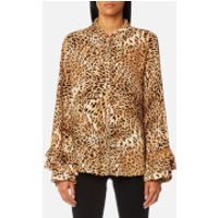 Gestuz Womens Christine Leopard Shirt - Leopard - UK 8/EU 36 - Multi