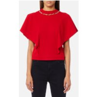 Guess Womens Manuela Top - Tulip Red - S - Red
