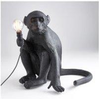Seletti Sitting Monkey Lamp - Black