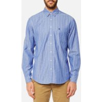 Joules Mens Long Sleeve Classic Shirt - Blue Check - S - Blue