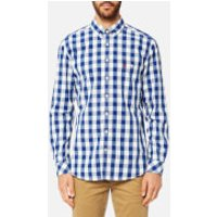 Joules Mens Long Sleeve Classic Fit Shirt with Pocket - Blue Gingham - L - Blue