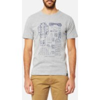Joules Mens Short Sleeve Graphic T-Shirt - Grey Marl - S - Grey