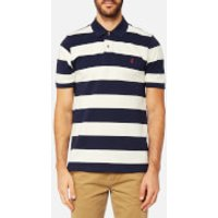 Joules Mens Striped Pique Polo Shirt - French Navy Stripe - S - Navy