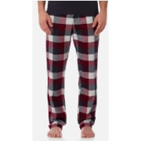 Joules Men's Checked Lounge Trousers - Rugby Red Check - S - Red