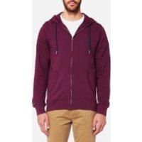 Joules Mens Coloured Loopback Zip Through Hoody - Plum - M - Purple