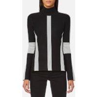Karl Lagerfeld Womens Ottoman Sweatshirt - Black/White - M - Black